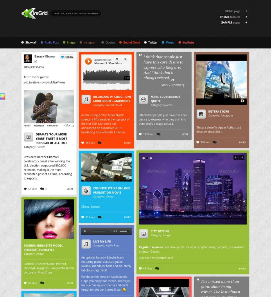 extragrid wordpress template