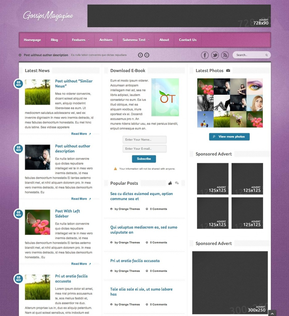 noble wordpress template